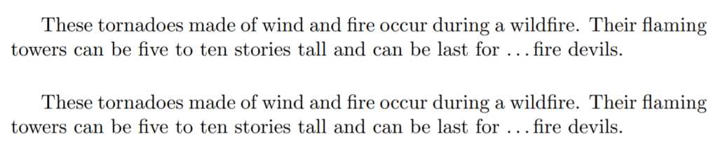 LaTeX ellipsis in text mode